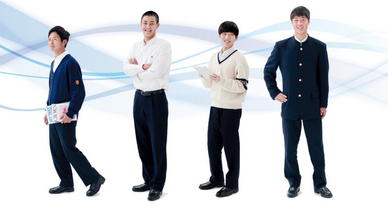 男子制服画像