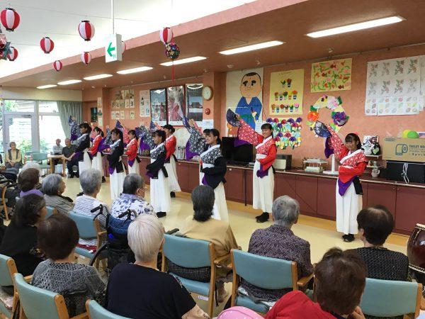 よさこい部 デイサービスセンター・ソレイユ演舞披露