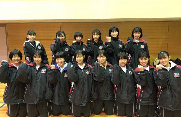 女子バスケットボール部県大会ベスト32